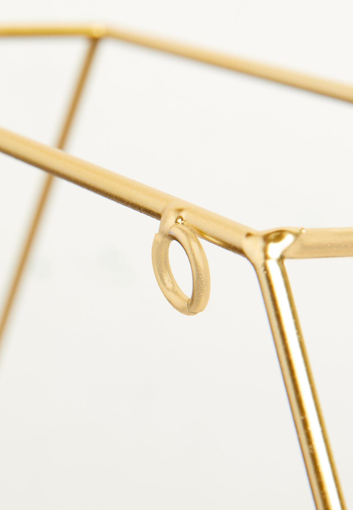 Gold Geo Wire Shelf