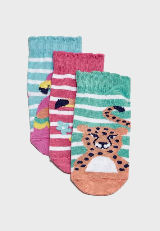 Infant 3 Pack Tropical Socks