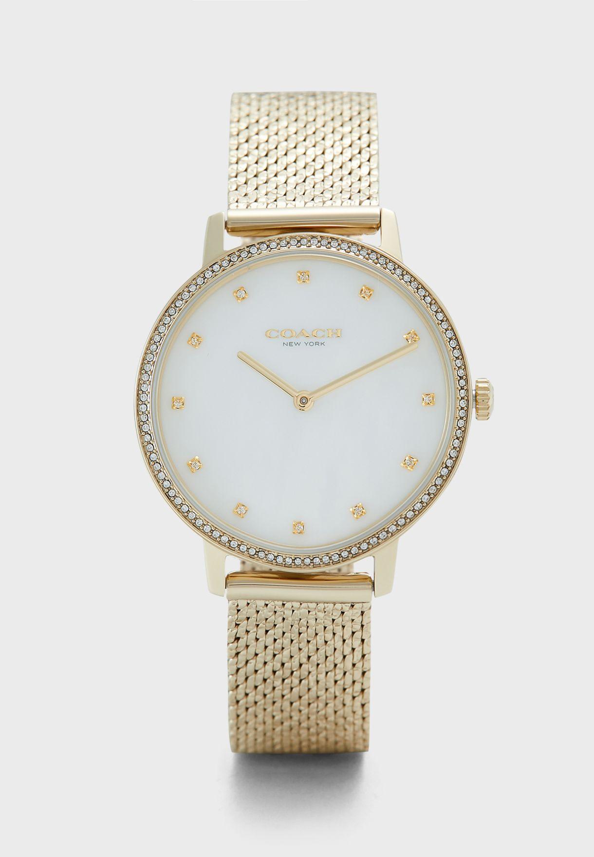 Audrey Ionic Steel Strap Watch
