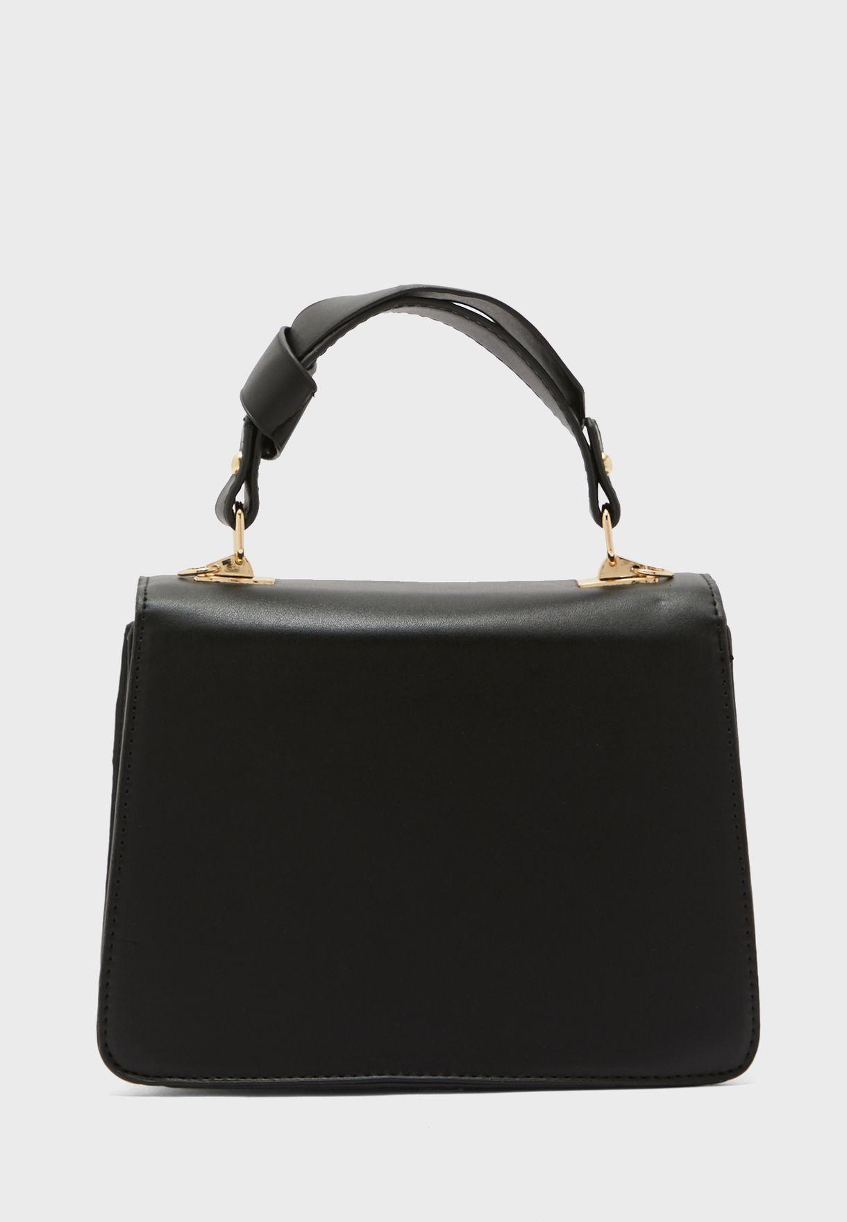 V Detail Handbag