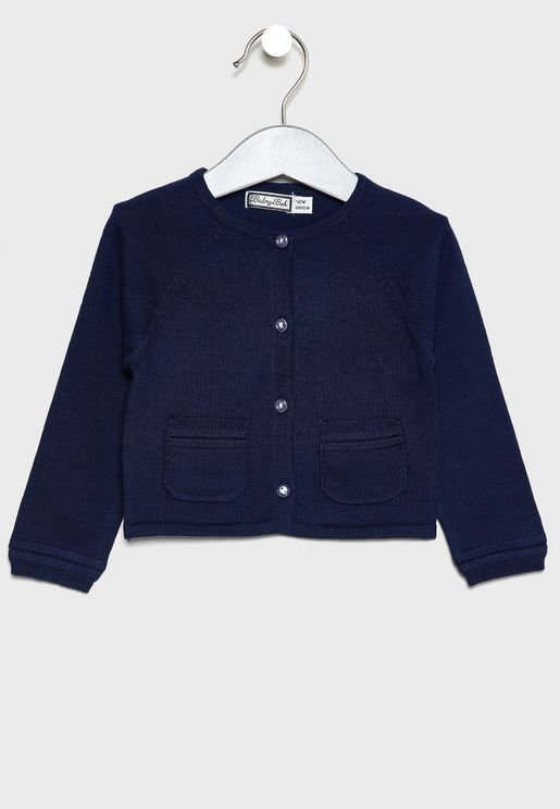 Kids Pocket Detail Cardigan