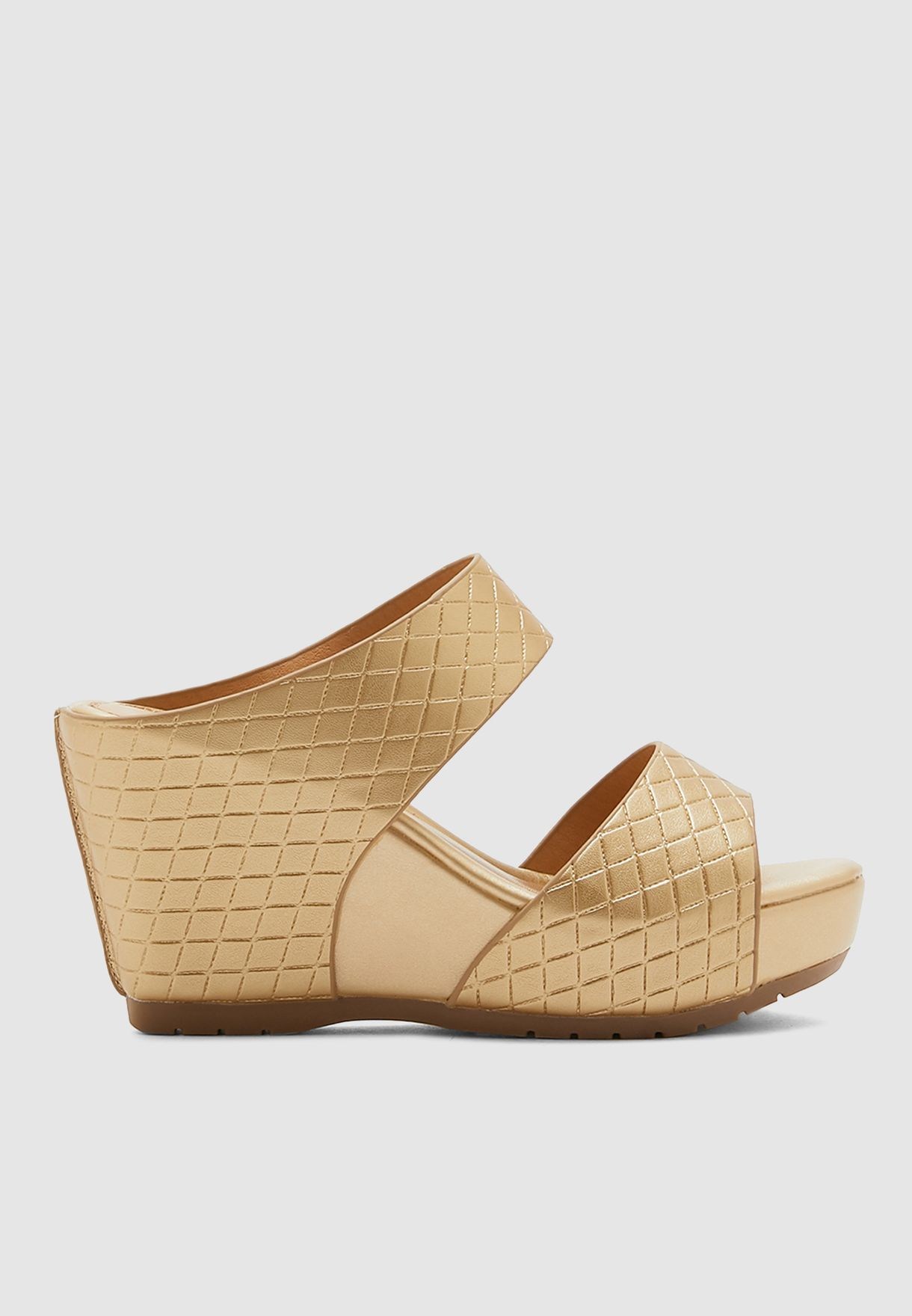 Buy Le Confort gold Double Strap Wedge