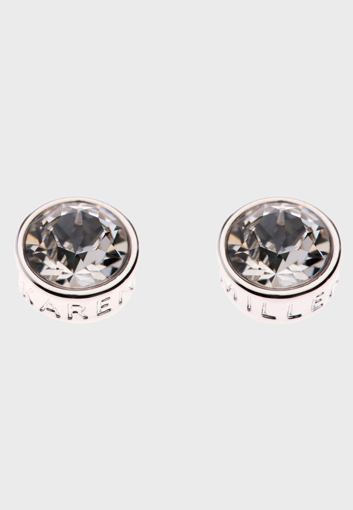 Logo Stud Earrings With Swarovski Elements