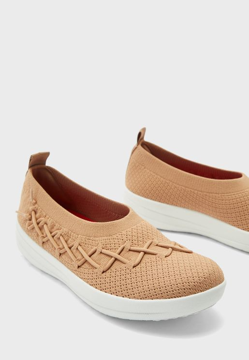 Corsetted Knit Slip On