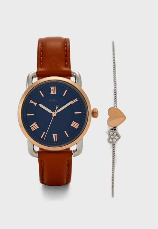 Copeland Analog Watch & Bracelet Set