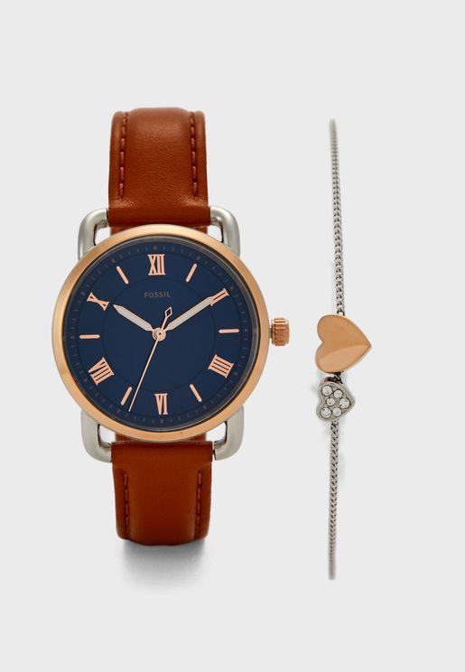 Copeland Analog Watch & Bracelet Set