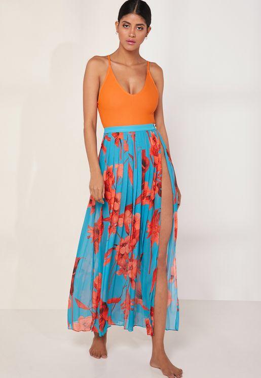 Printed Maxi Beach Skirt