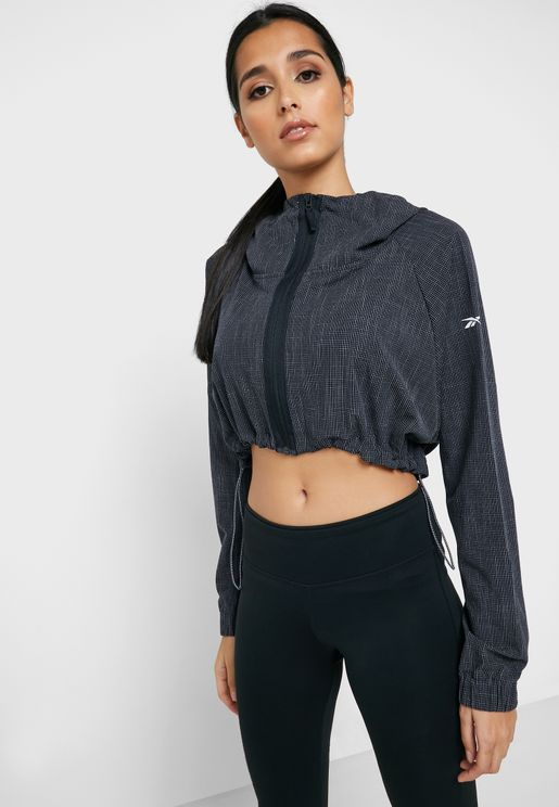 Training Supply Woven Cropped Jacket