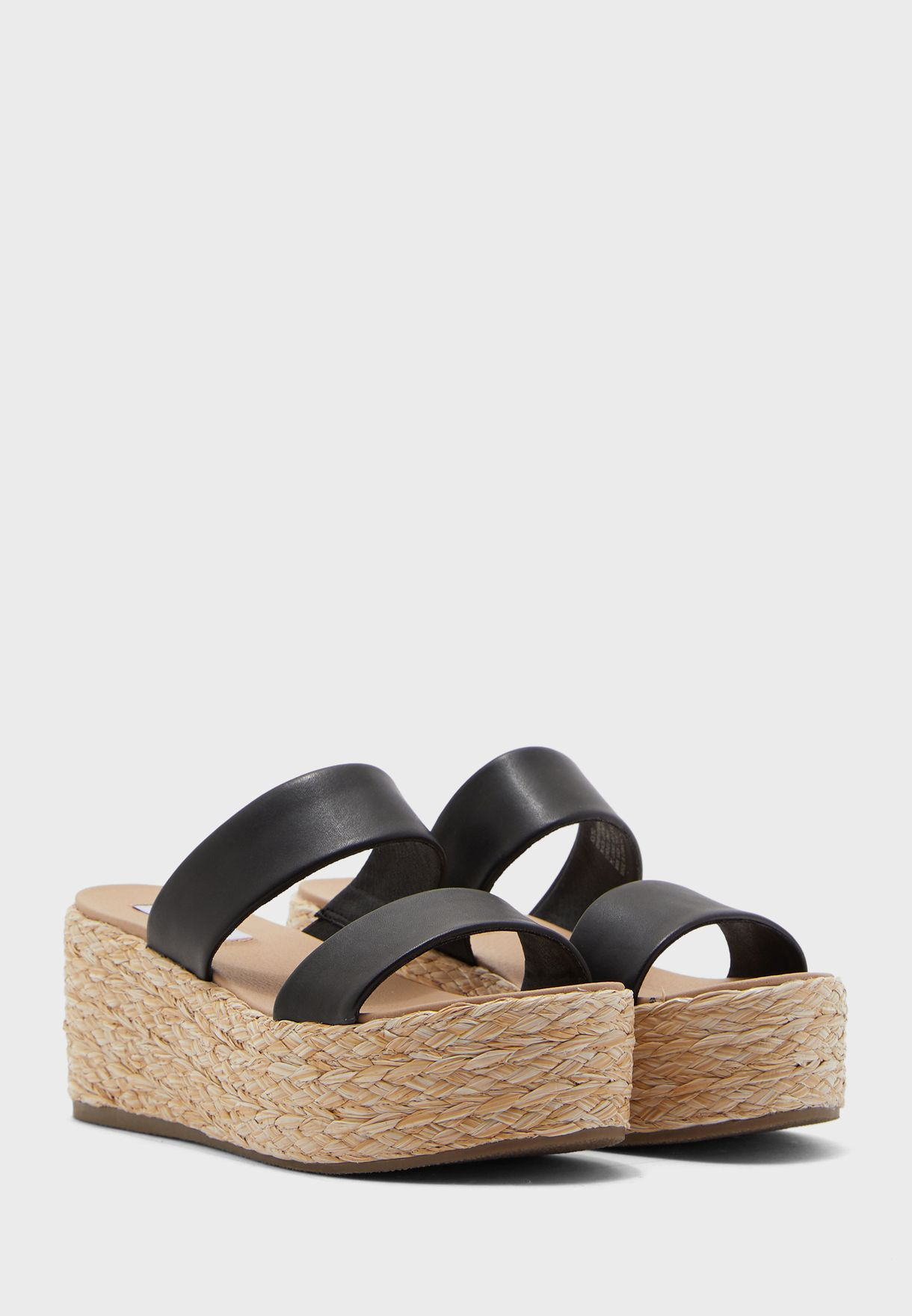 Jolted High Heel Wedge Sandal