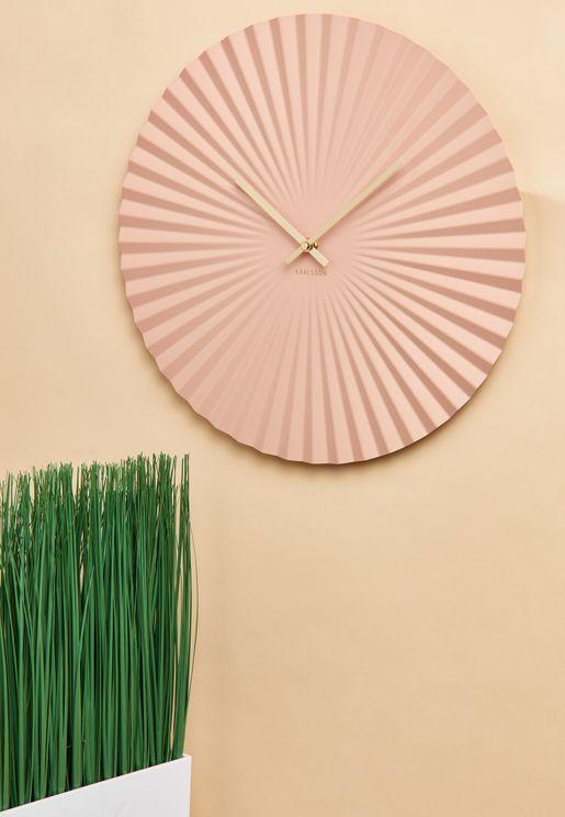 ساعة حائط مموجة