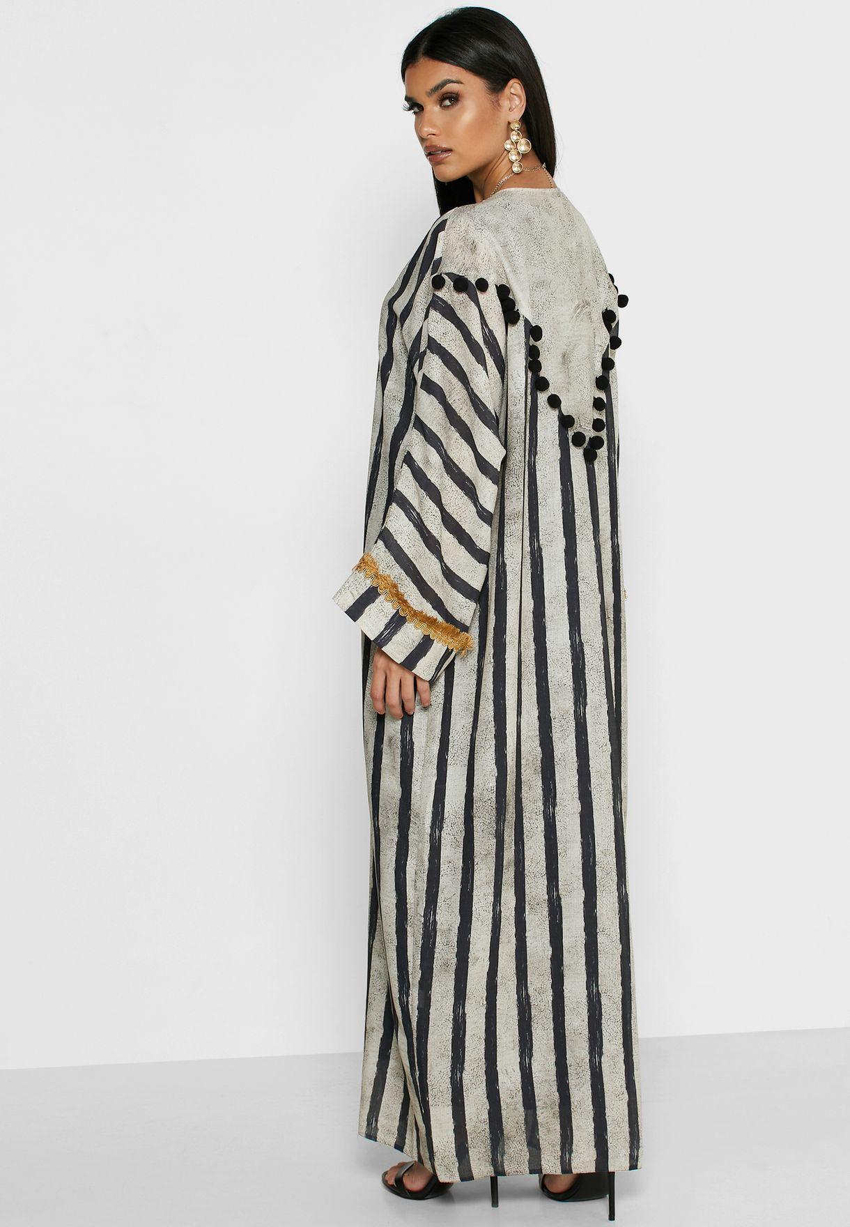 Striped Abaya