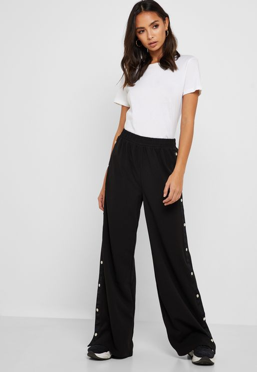 Wide Leg Popper Pants