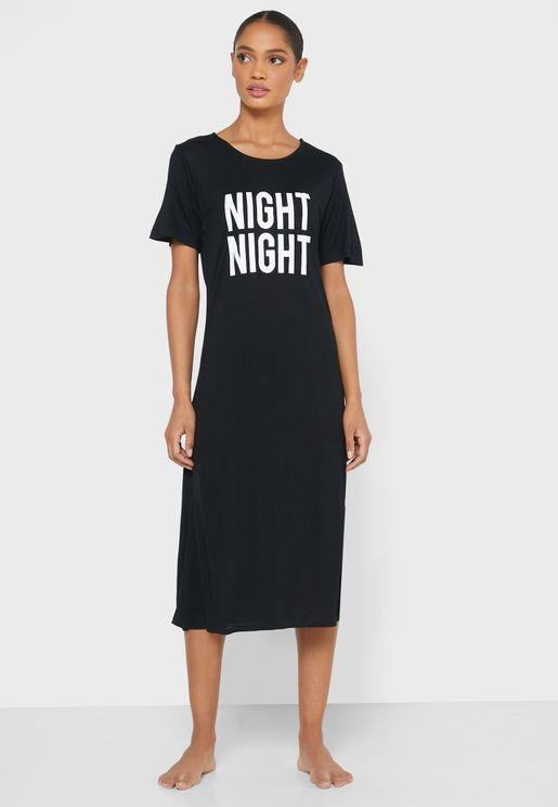 Slogan Nightdress