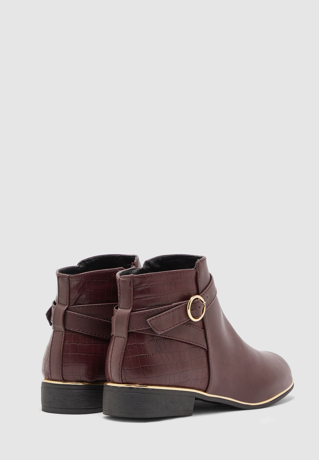 Dorothy Perkins Wide Fit Mina Gold Tipped Jodphur Boot - Brand Shoes
