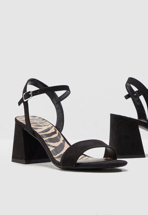 699dbc83da9 Pan Block Heel Sandal - Black