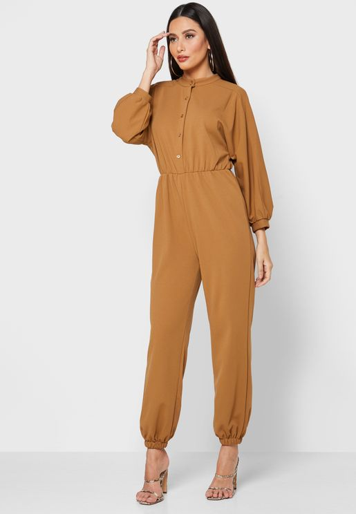 Button Down Jumpsuit