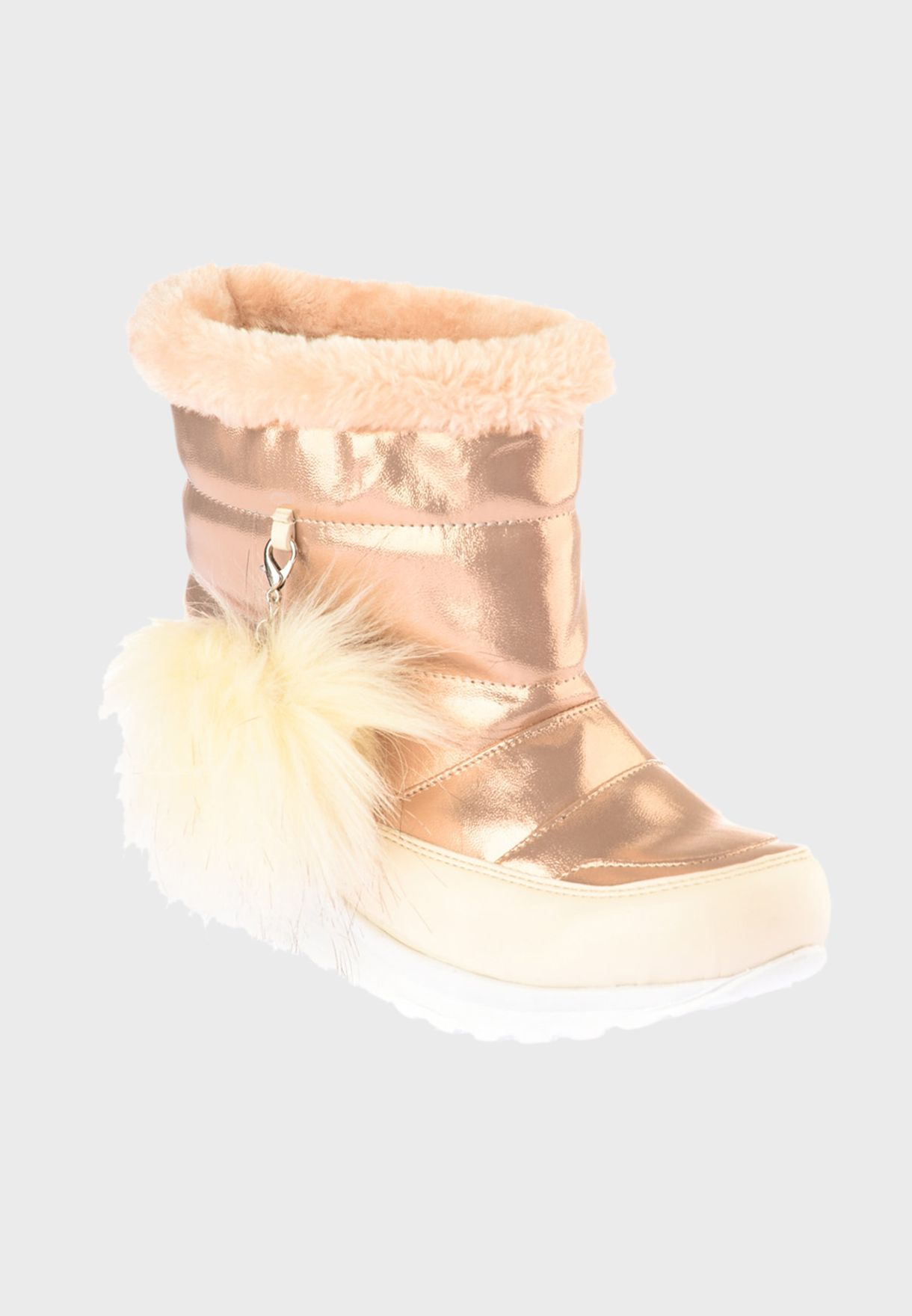 Fur Detail Snow Ankle Boot