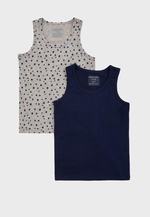 Kids 2 Pack Casual Vest