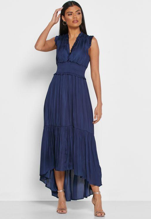 Ruffle Trim Dress