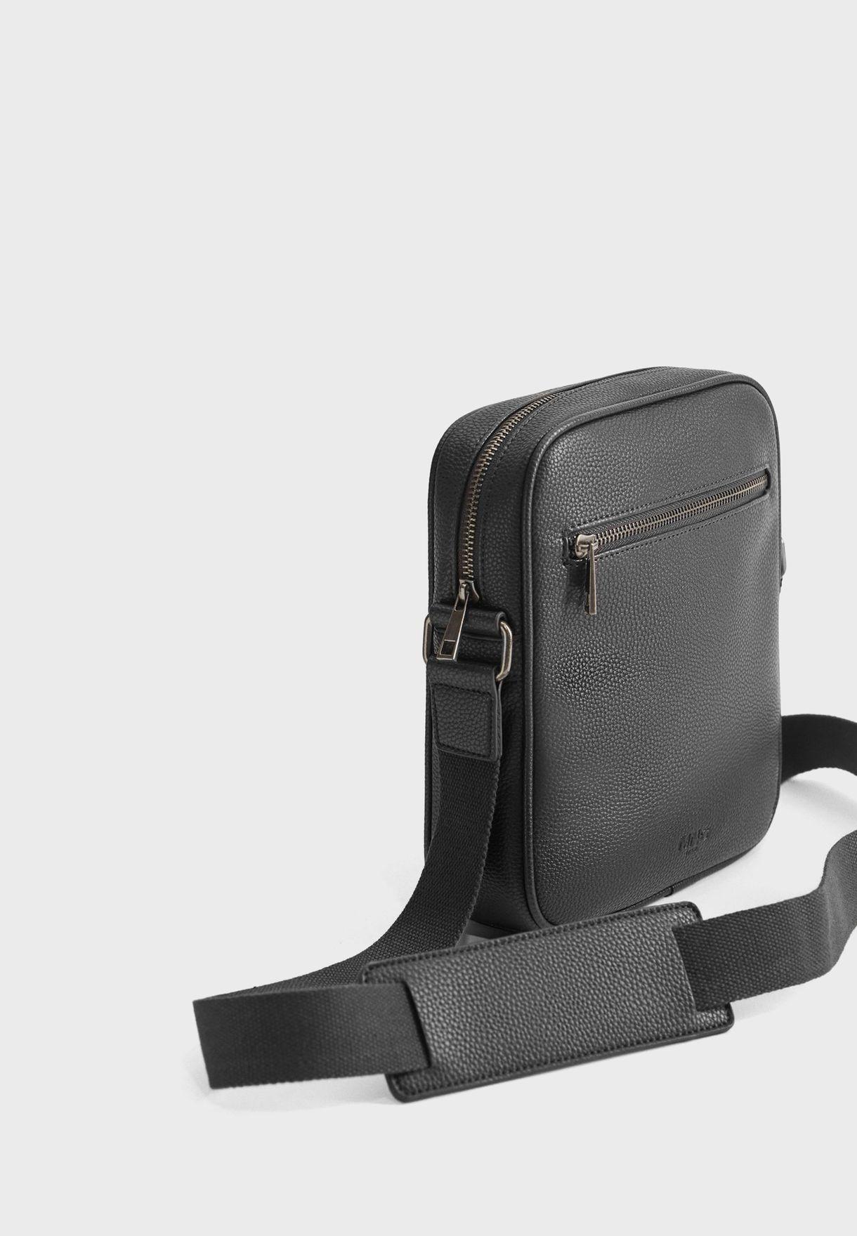 Allday Front Zip Messenger Bag