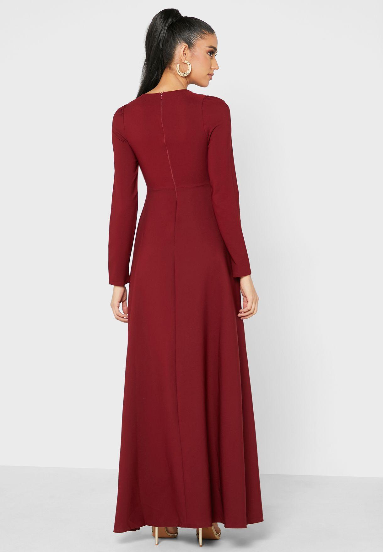 Modest A-Line Dress