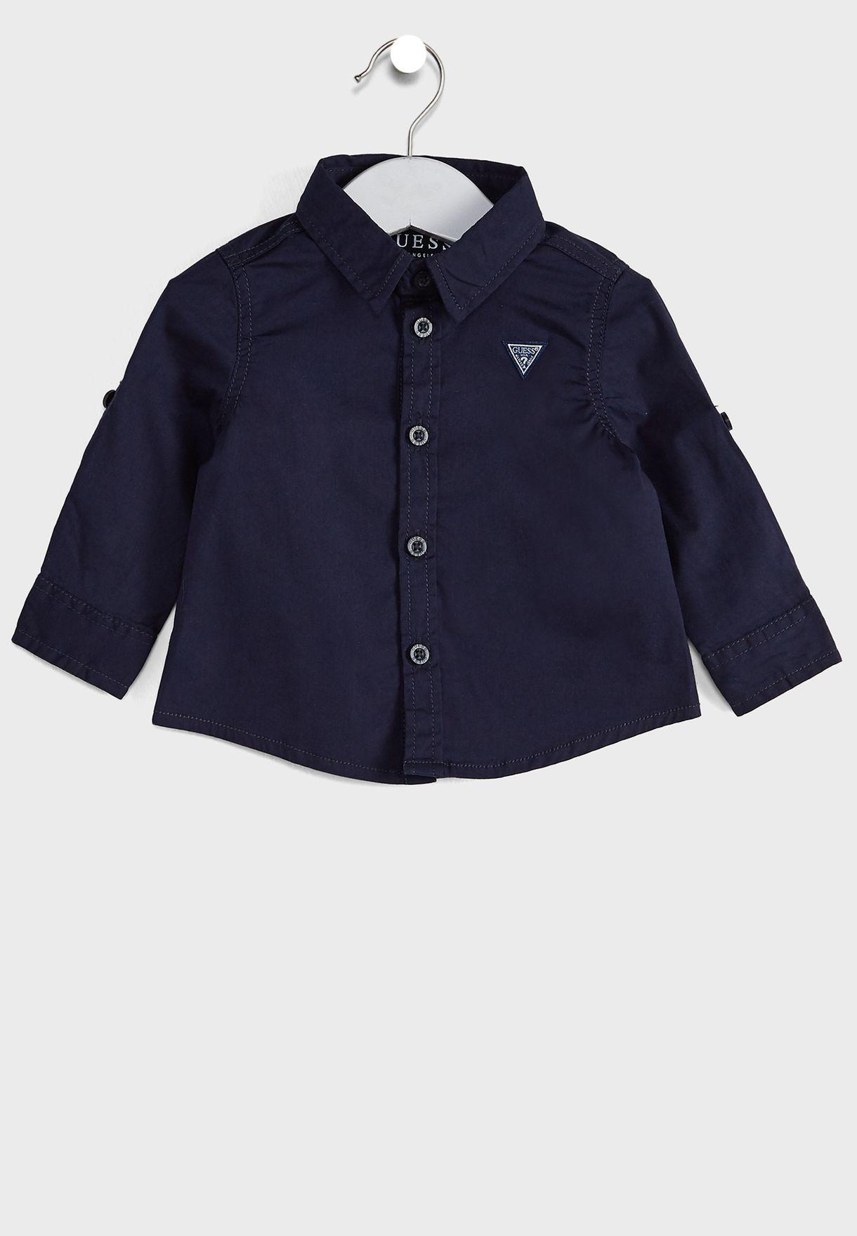 قميص قابل للتعديل بشعار الماركة