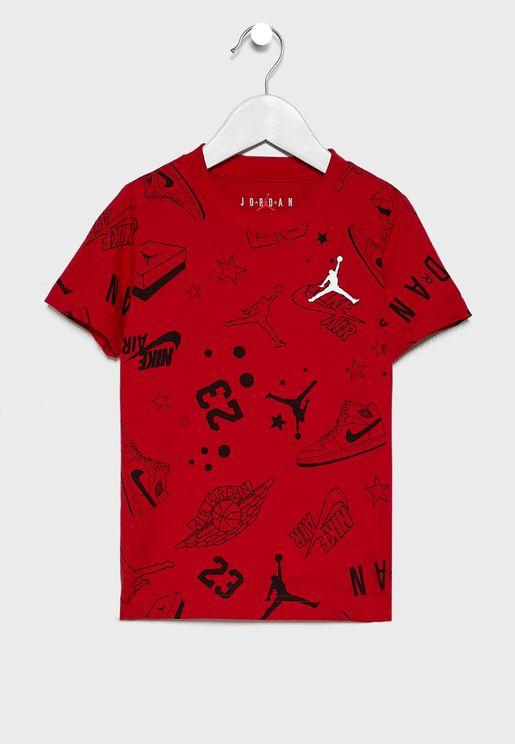 Kids Jordan All Star Scribble T-Shirt