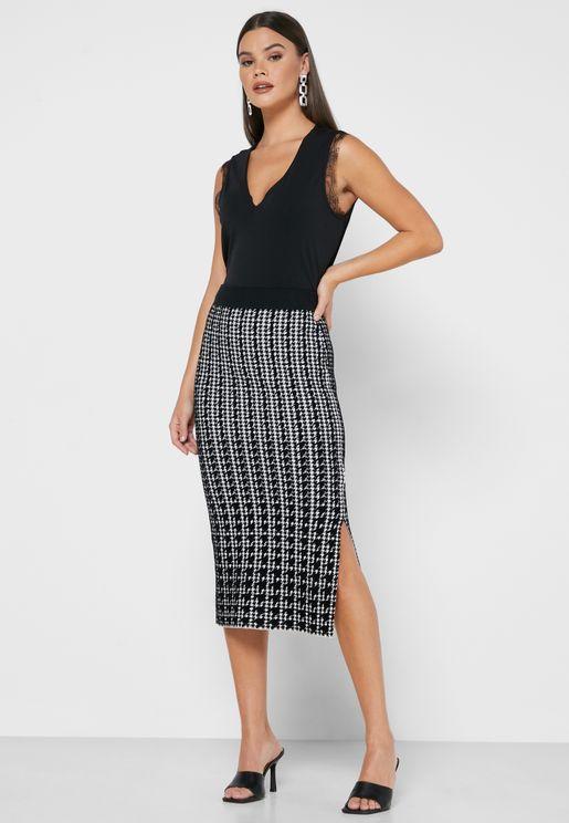 Atlassy Jacquard Skirt