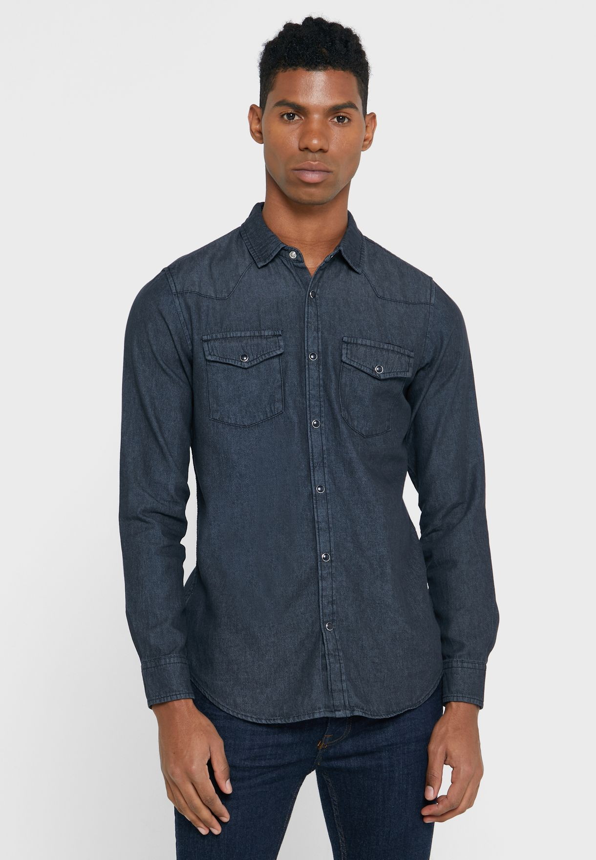 Slim Fit Denim Shirt