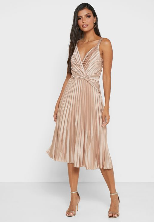 Tayla Pleated Wrap Dress