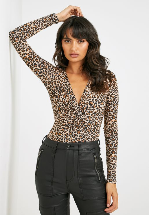 Leopard Print Twisted Body