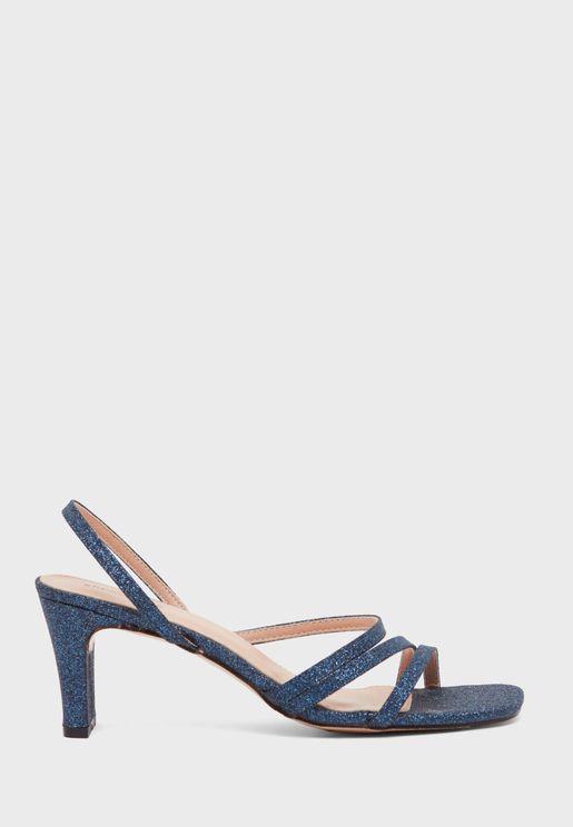 Slingback Mid Heel Sandal