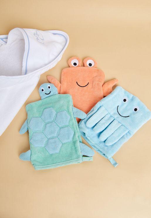 قفازات استحمام للاطفال
