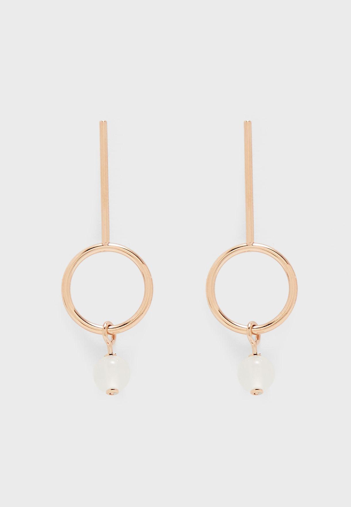 Sea Glass Pearl Drop Earrings