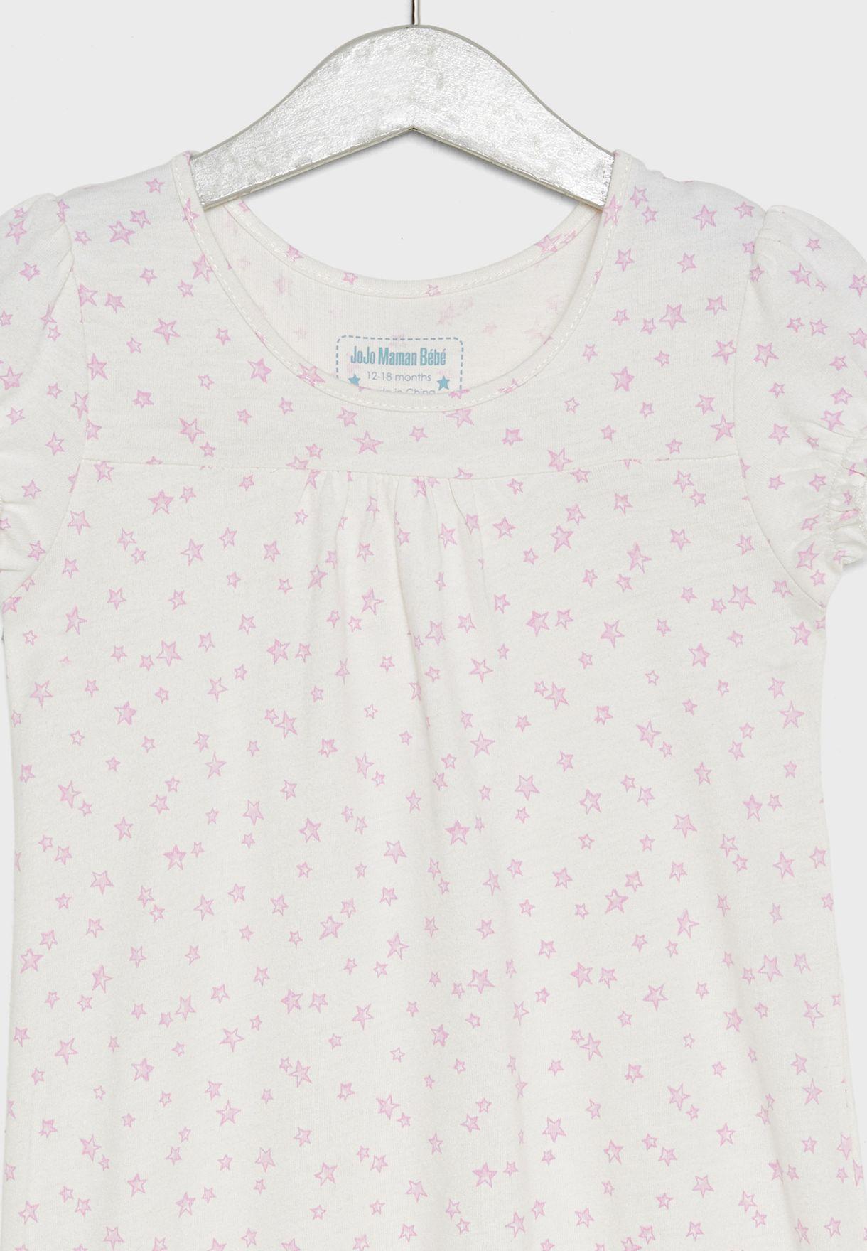 قميص نوم بطبعات نجوم