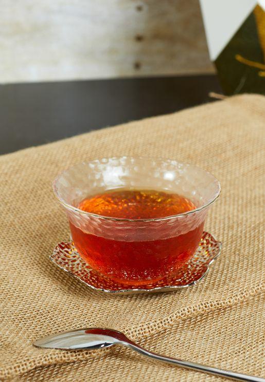 Glass Teacup And Saucer Set