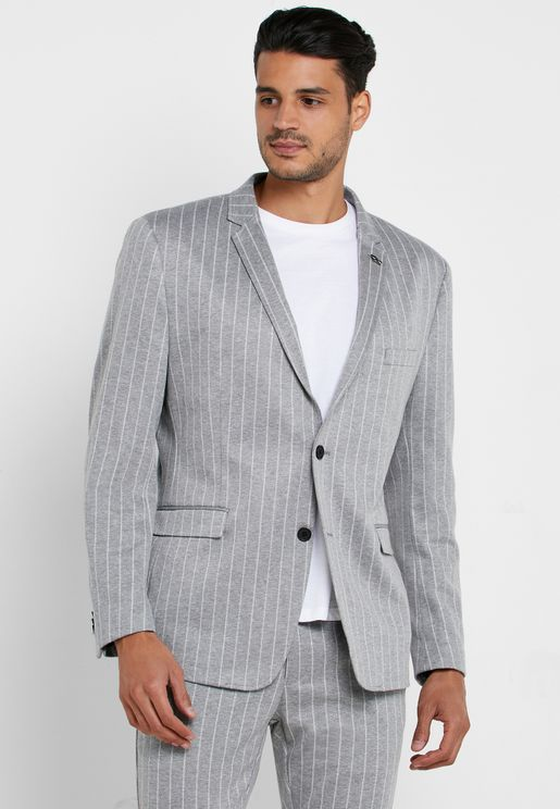 Striped Slim Fit Blazer
