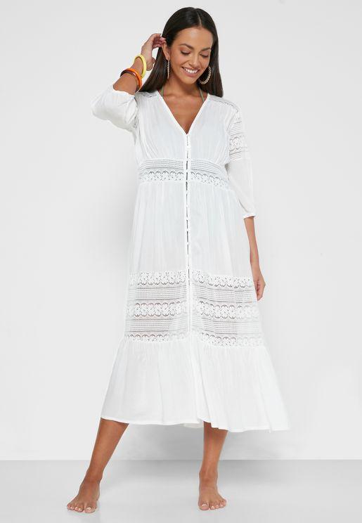 فستان بحر بكشكش