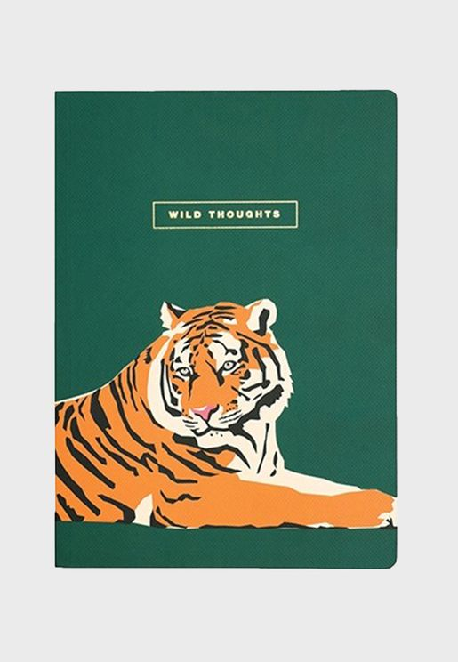 B5 Lion Printed Notebook