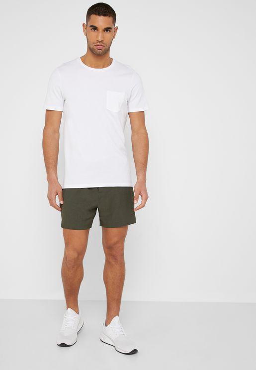 Seersucker Side Stripe Shorts