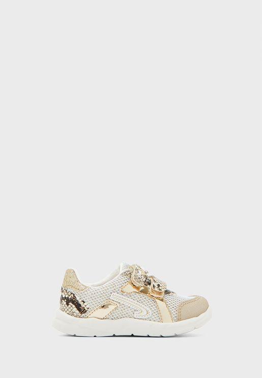 Infant Double Strap Glitter Sneaker