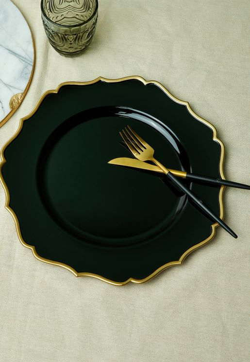 Scallop Design Charger Plate