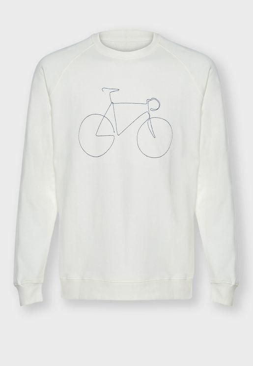 سويت شيرت بطباعة دراجة