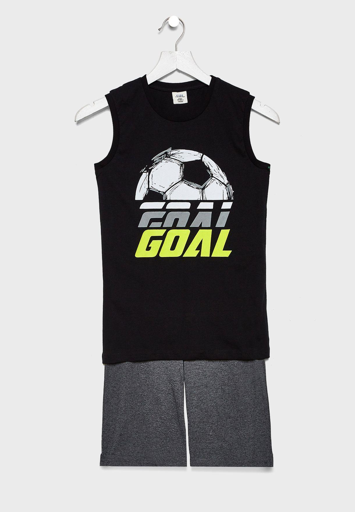 Kids Graphic T-Shirt + Shorts Set