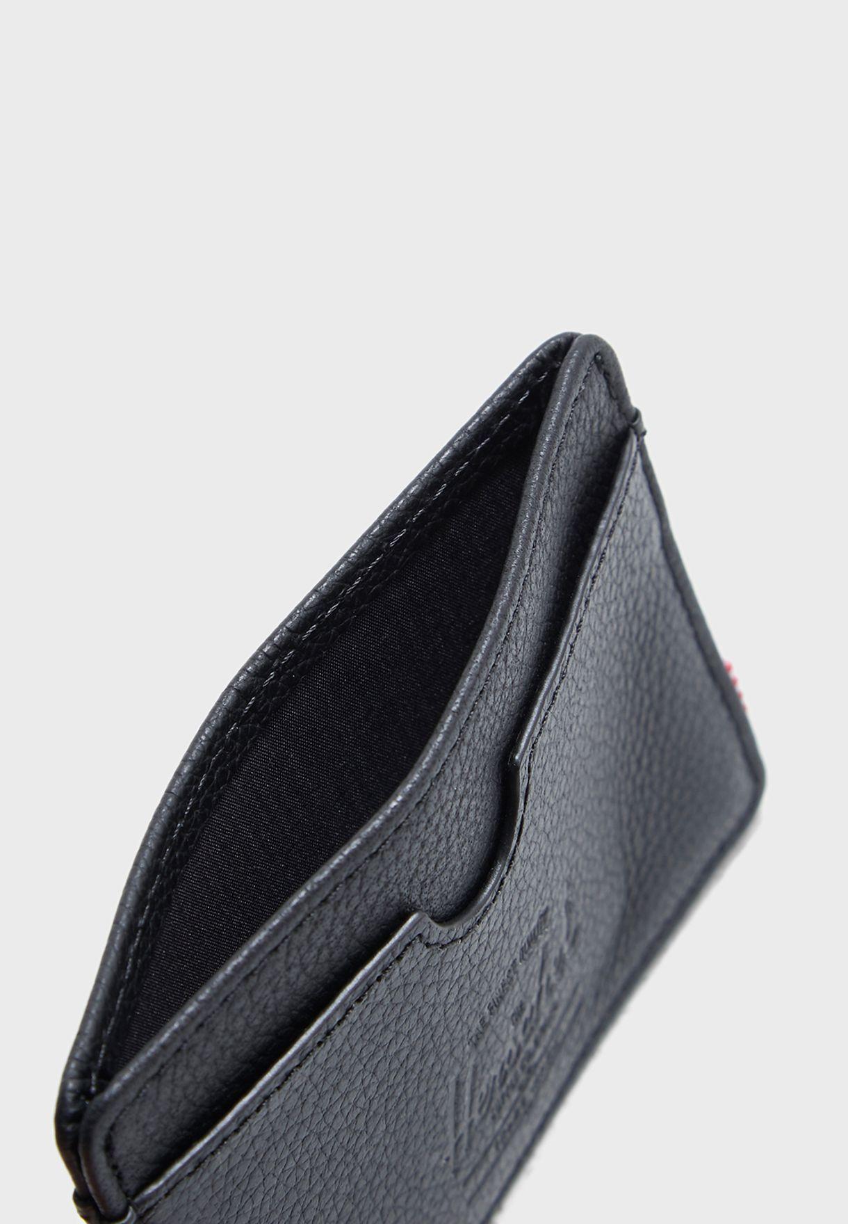 Charlie Leather RFID Cardholder Wallet