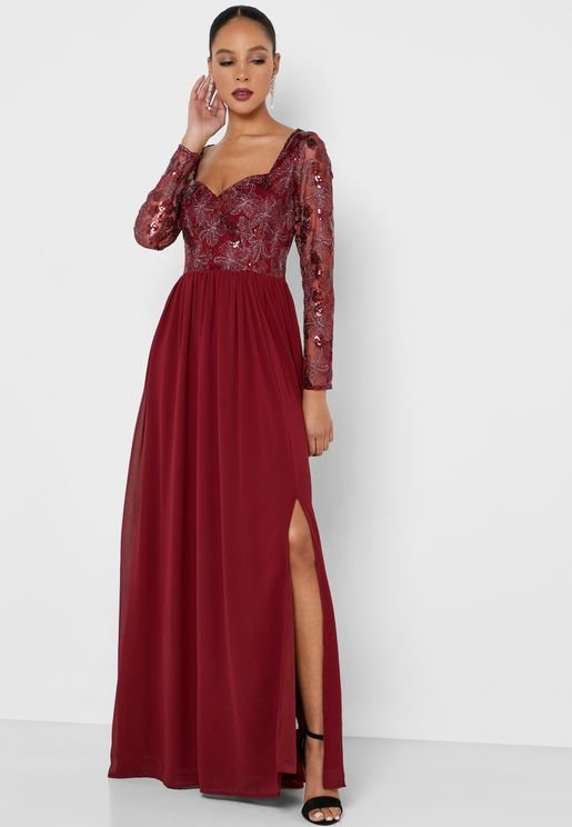 فستان بسحاب مخفي