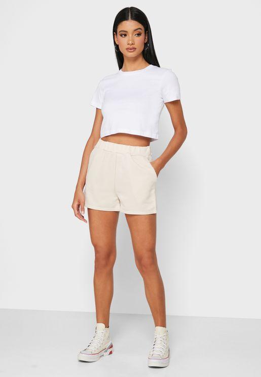 Ruched Waist Shorts