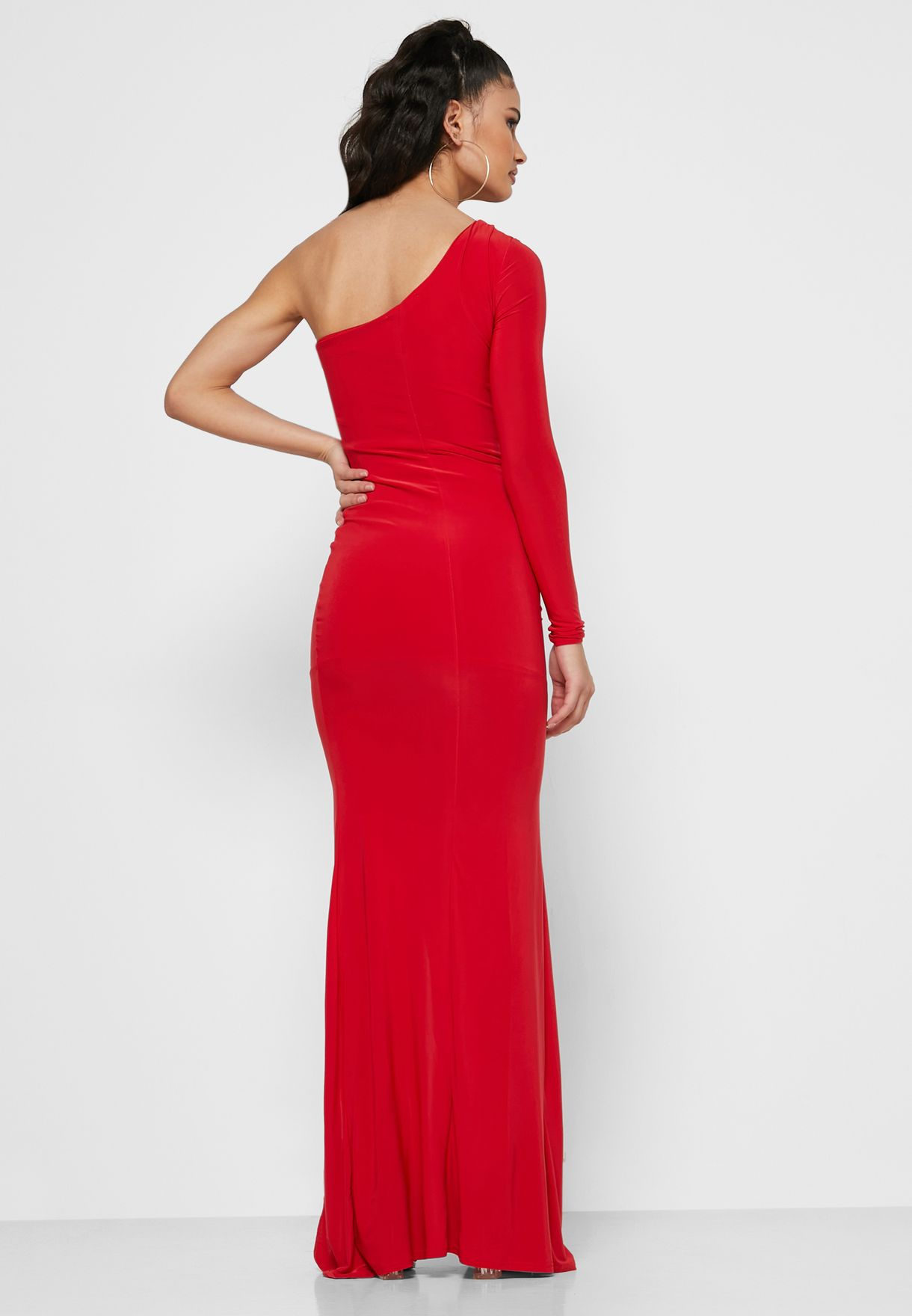 Missguided One Shoulder Ruched Maxi Dress - Women Clothing 5zatG