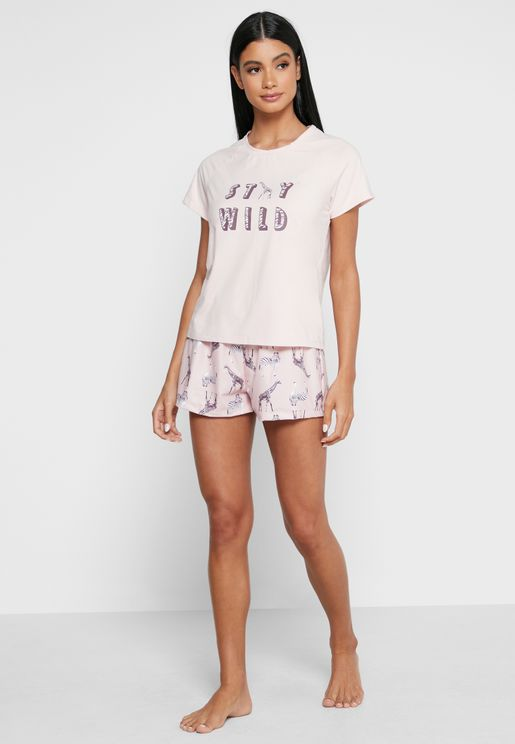 Party Animals T-Shirt & Shorts Set