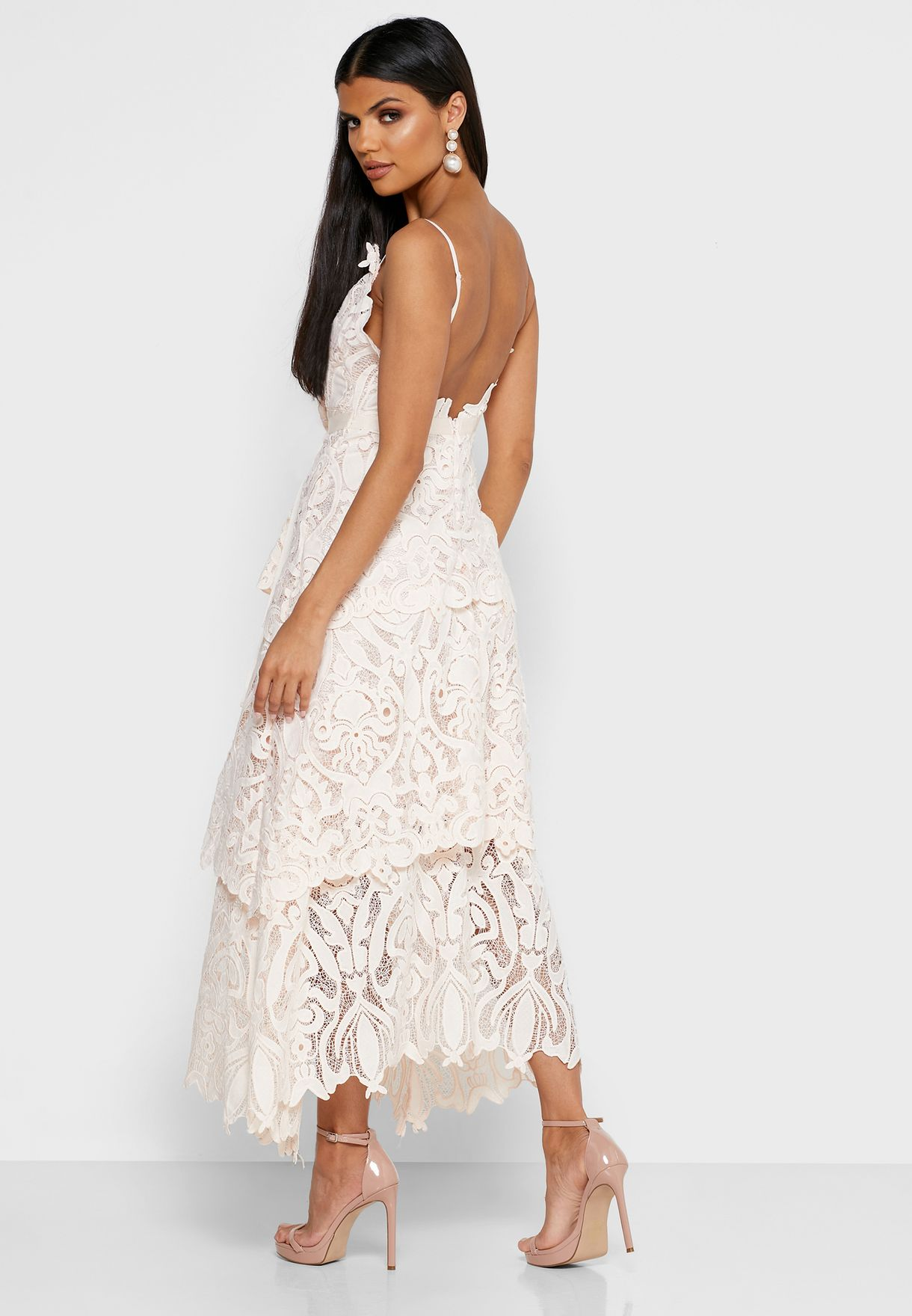 Tie Waist Cami Lace Dress